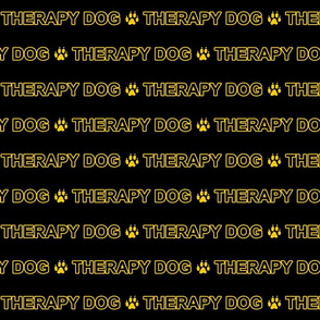 Basic Therapy dog text - yellow
