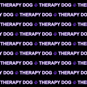 Basic Therapy dog text - purple