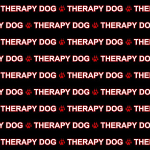 Basic Therapy dog text - red