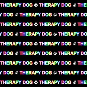 Basic Therapy dog text - rainbow