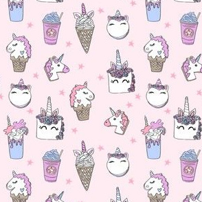 unicorn food // ice cream cone unicorns cake cute kawaii rainbows fabric pastel pink