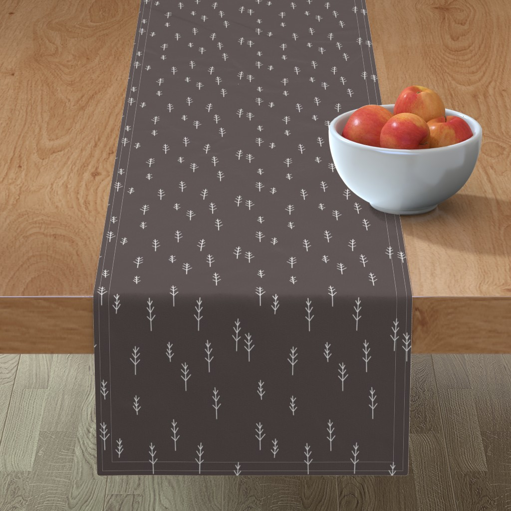 Minorca Table Runner featuring Forest - Black by papercanoefabricshop