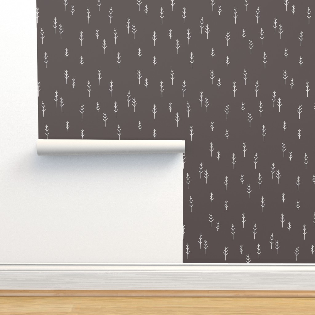 Isobar Durable Wallpaper featuring Forest - Black by papercanoefabricshop