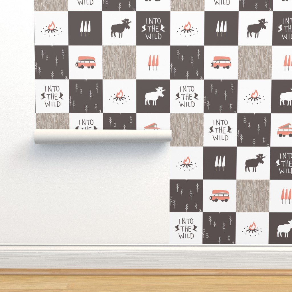 Isobar Durable Wallpaper featuring Into the Wild - Cheater Quilt by papercanoefabricshop