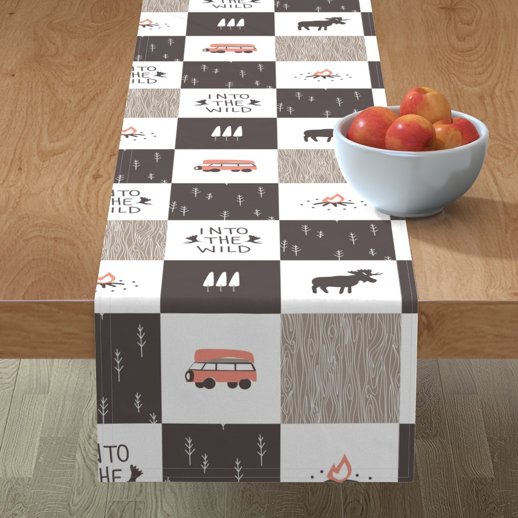 Minorca Table Runner featuring Into the Wild - Cheater Quilt by papercanoefabricshop