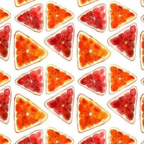 Triangle grapefruits || watercolor citrus pattern