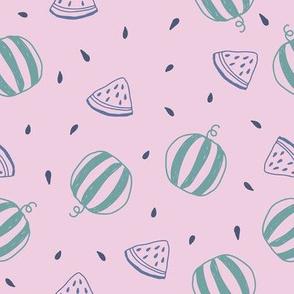 cute watermelons in pink