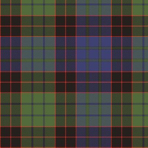 "1819 Stewart old clan tartan, 6"", Wilsons colors"