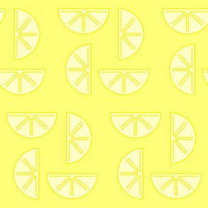 party lemons on yellow