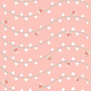Peach Heart Floral