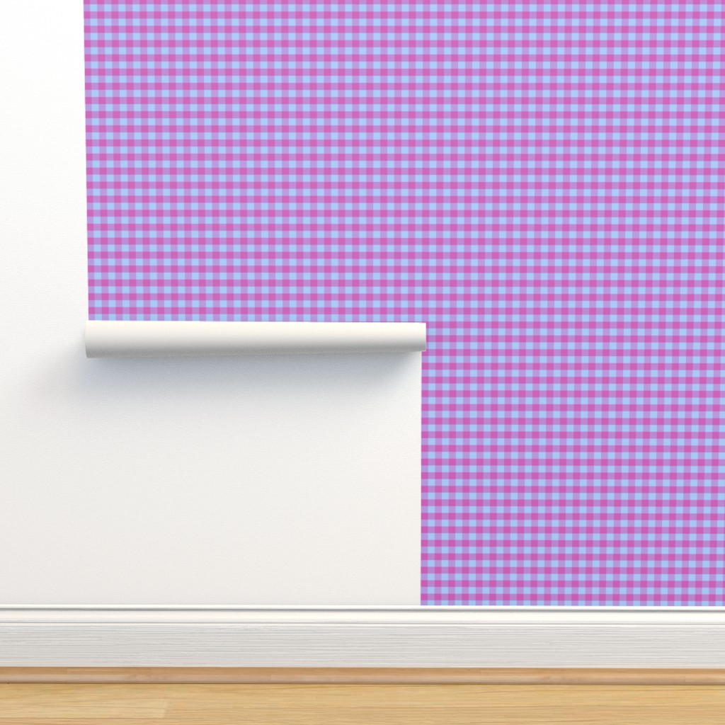 Isobar Durable Wallpaper featuring JP21 - Lavender - Fuchsia and Lilac Buffalo Plaid by maryyx