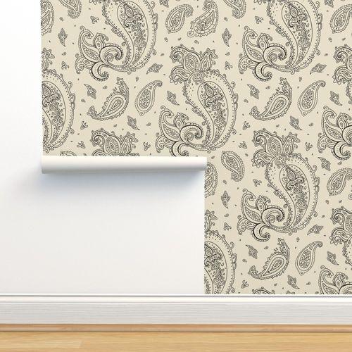 Wallpaper Paisley Indian Pattern