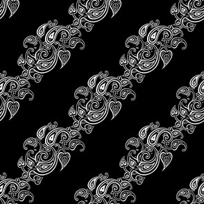 Paisley black. Diagonal