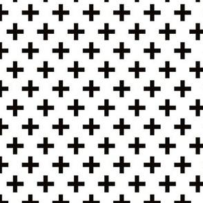 Crosses | Criss Cross | Plus Sign | X | Black and White