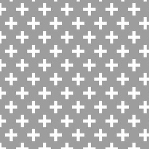 Crosses | Criss Cross | Plus Sign | X | Grey and White