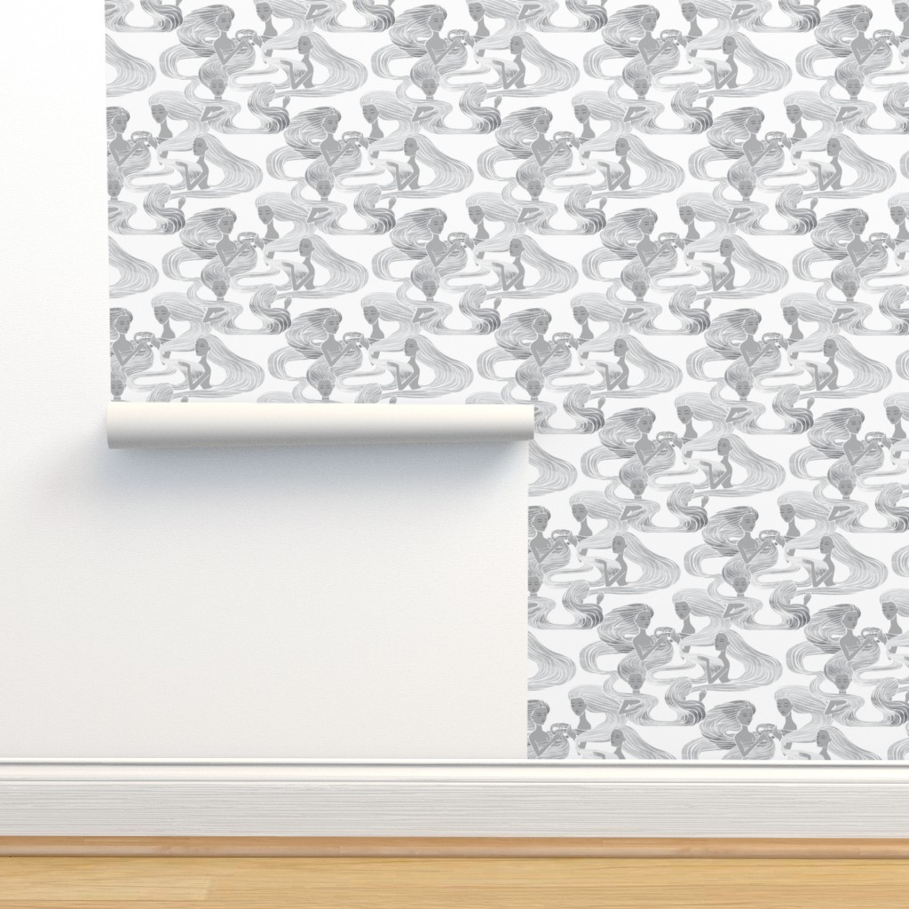Isobar Durable Wallpaper featuring The Mystics {White} by ceciliamok