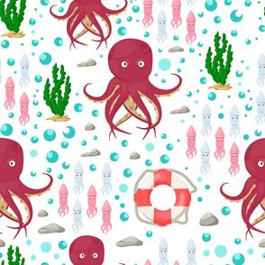 Octopus ocean fish aquatic underwater