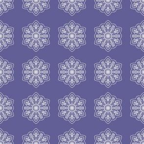 white mandalas asian pattern