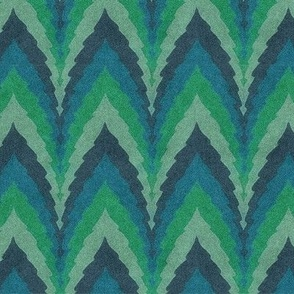 emerald forest zigzag stripes