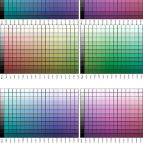 All around the hues color palettes fabric test - photoshop-adobe1998