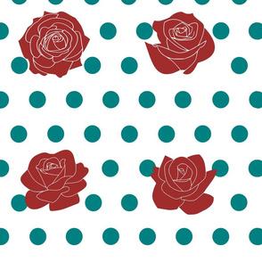 Roses and polka dots