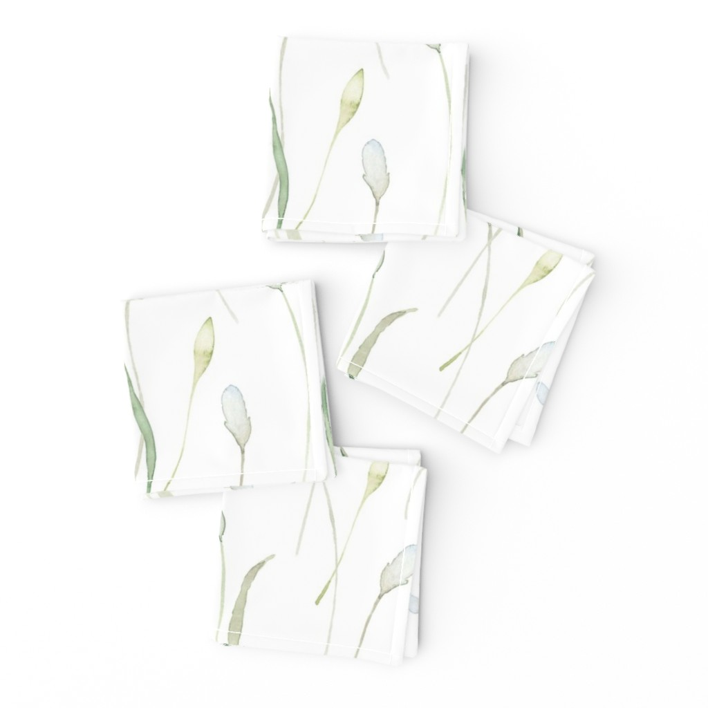 Frizzle Cocktail Napkins featuring Hearts and Stars pattern on yellow watercolor background by lolahstudio