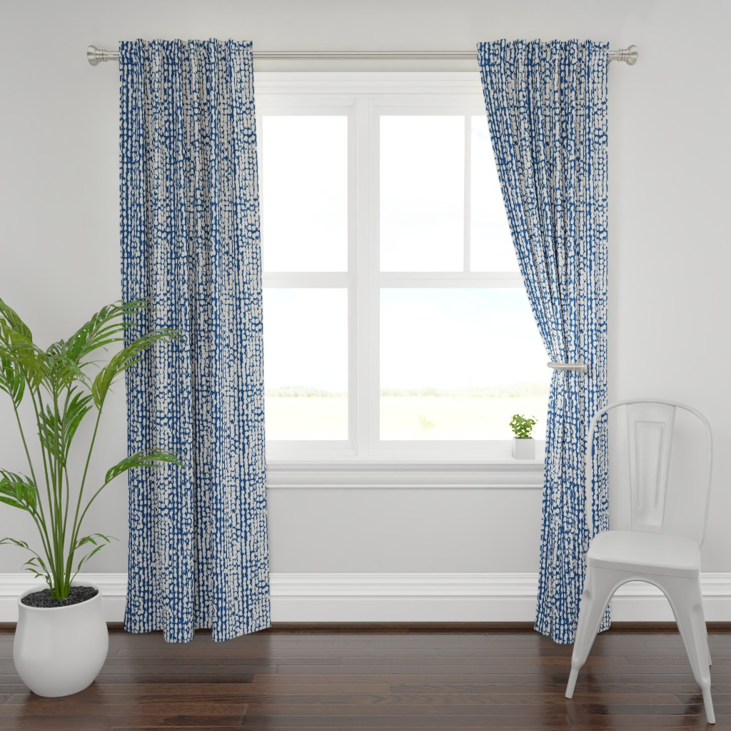 Plymouth Curtain Panel featuring shibori6AIpttrn-ind-56 by exotic_vector