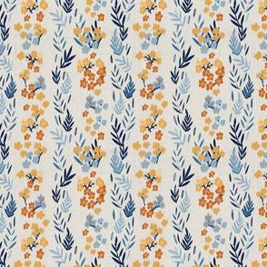 Seaside Oleander Flowers orange and blue