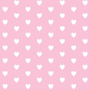 Tiny White Hearts (light pink) – Baby Girl Nursery