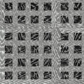 Cerused Wood Square Weave Black Grey White