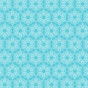 White lace snowflakes