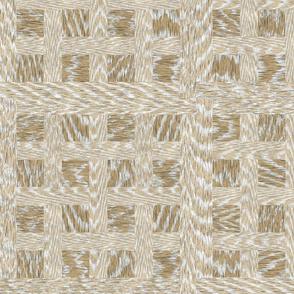 Cerused Wood Square Weave Ash Oak White