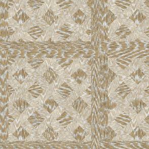 Cerused Wood  Square Diagonal Weave Ash Oak White