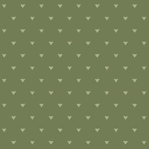 Triangular Leaves Polka / Olive