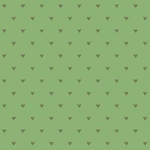 Triangular Leaves Polka / Green
