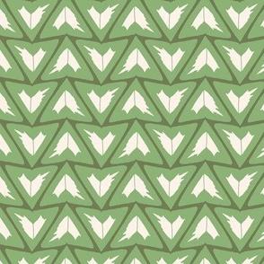 Triangular Leaves Geometric / Green