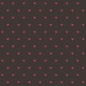 Triangular Leaves Polka / Chocolate