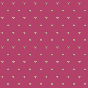 Triangular Leaves Polka / Dark Pink