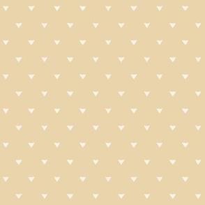 Triangular Leaves Polka / Beige
