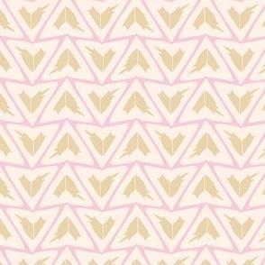 Triangular Leaves Geometric / Cream