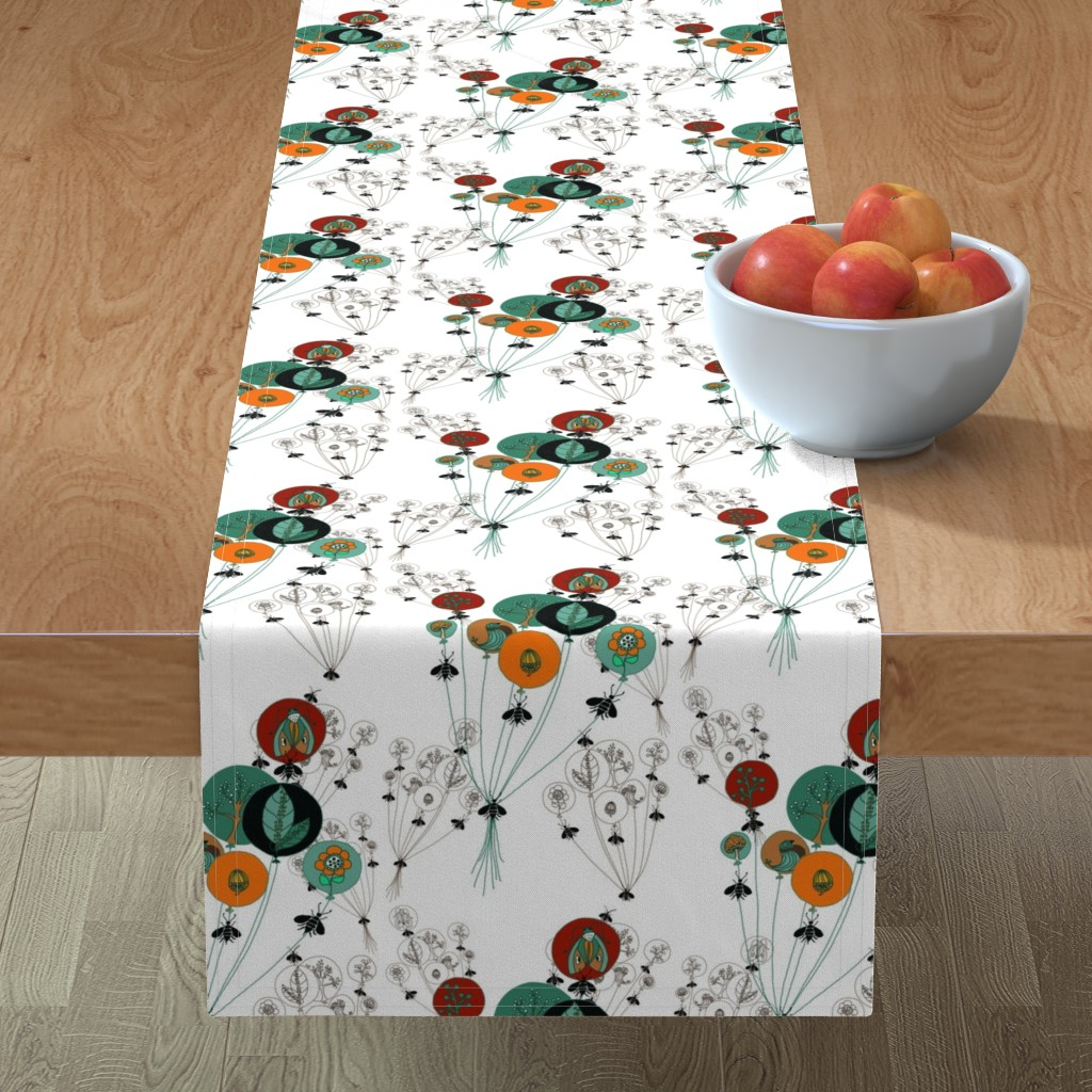 Minorca Table Runner featuring Circles of Life by salzanos