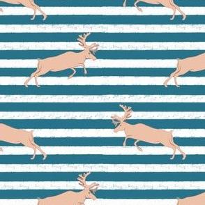 Blue Stripe pastel Deer
