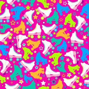 Retro Roller Skates - Pink