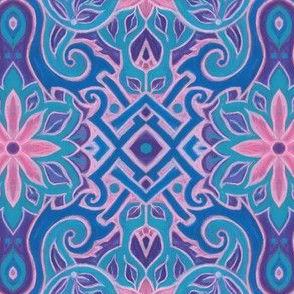 Pink_and_turquoise_floral_arabesque_Julia_Khoroshikh_2_3