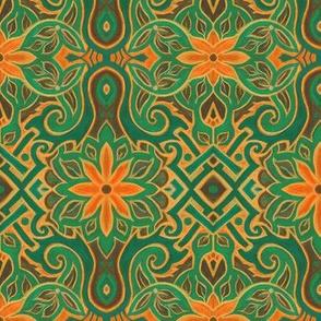 orange_and_turquoise_floral_arabesque_Julia_Khoroshikh_2_3