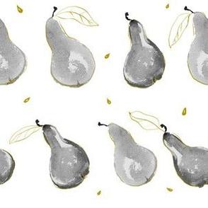 Minimalist Pears: grey + gold