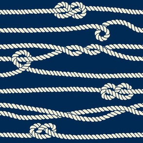Entangled Rope Pattern with Knots
