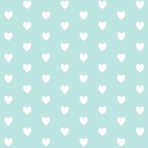 Tiny White Hearts (crystal blue) – Baby Girl Nursery