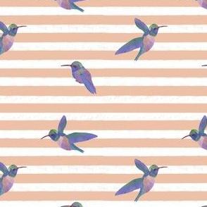 Striped Watercolor Birds