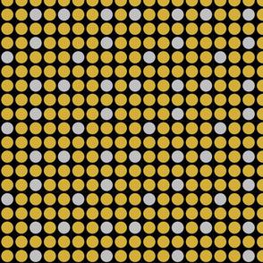 Gold and Silver Polka Dots